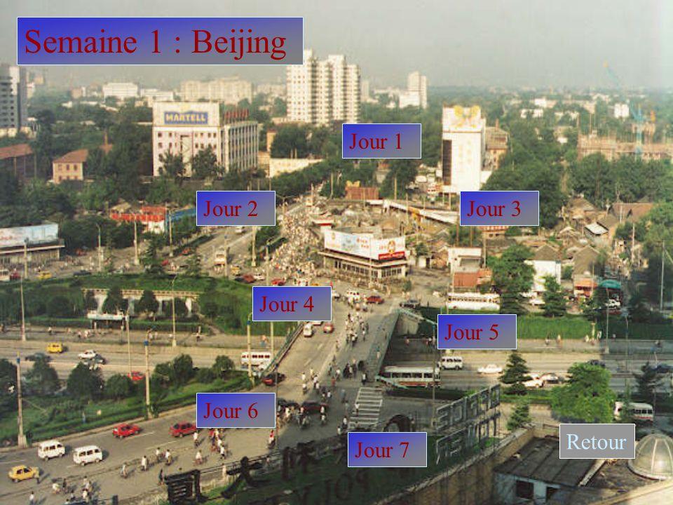 Semaine 1 : Beijing Jour 1 Jour 2Jour 3 Jour 4 Jour 5 Jour 6 Jour 7 Retour
