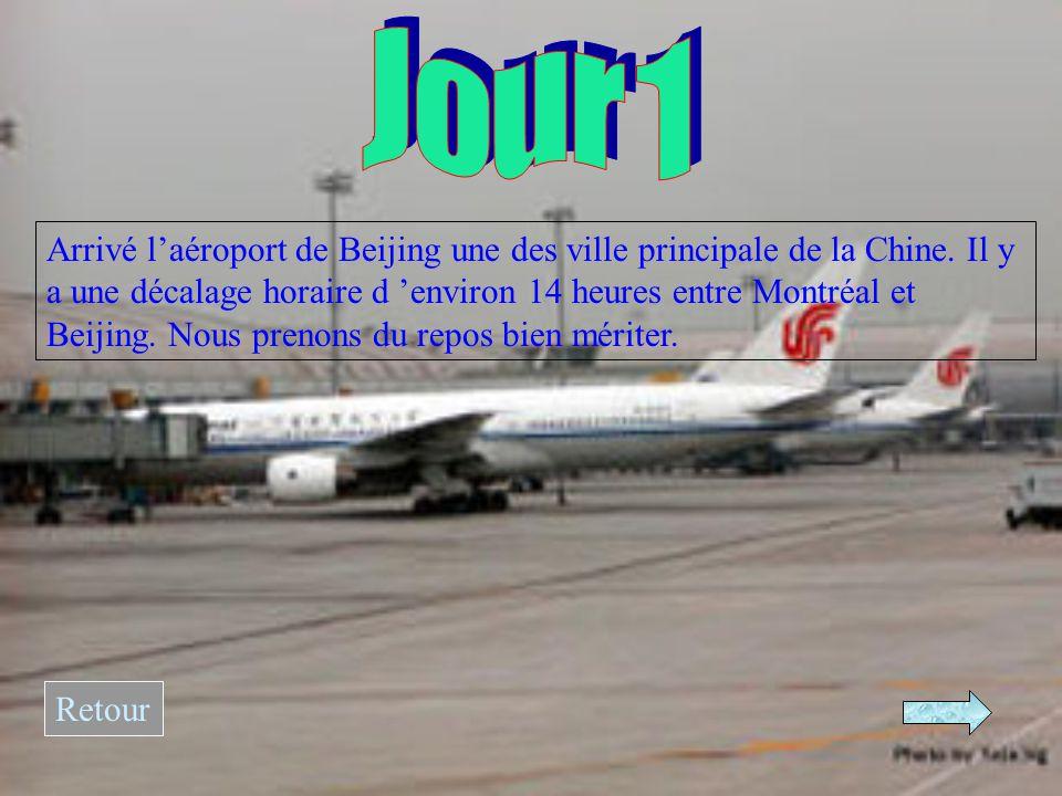 Arrivé l'aéroport de Beijing une des ville principale de la Chine.