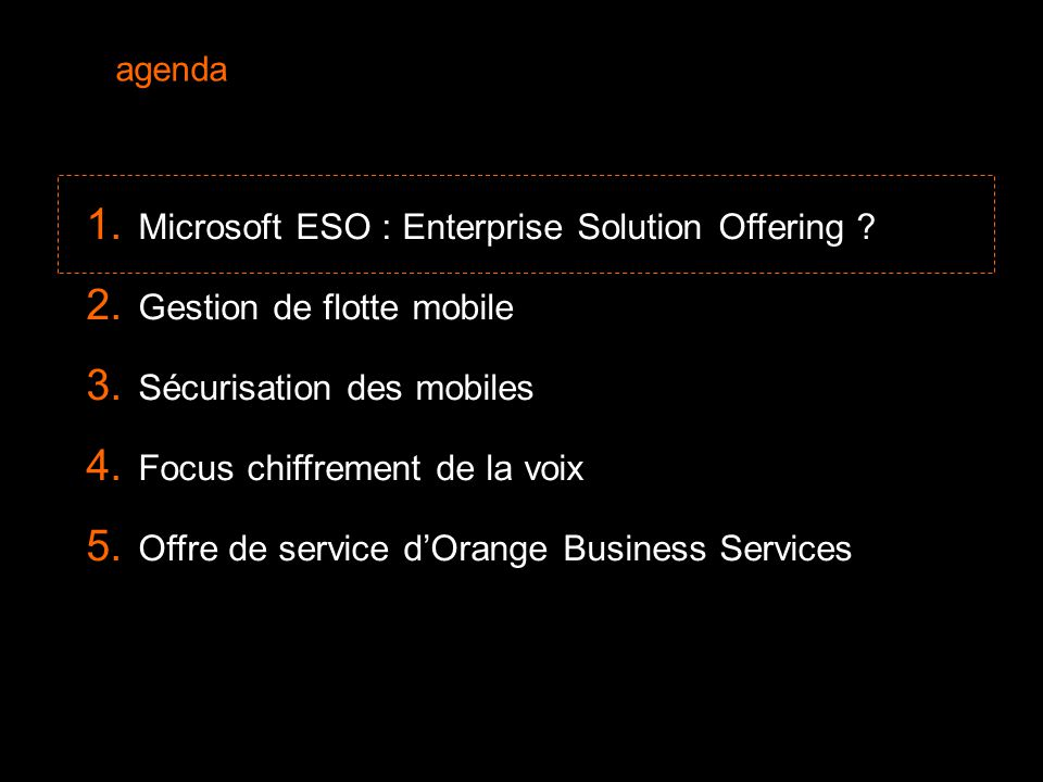2  Microsoft ESO : Enterprise Solution Offering .