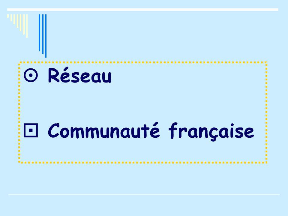  Réseau  Communauté française
