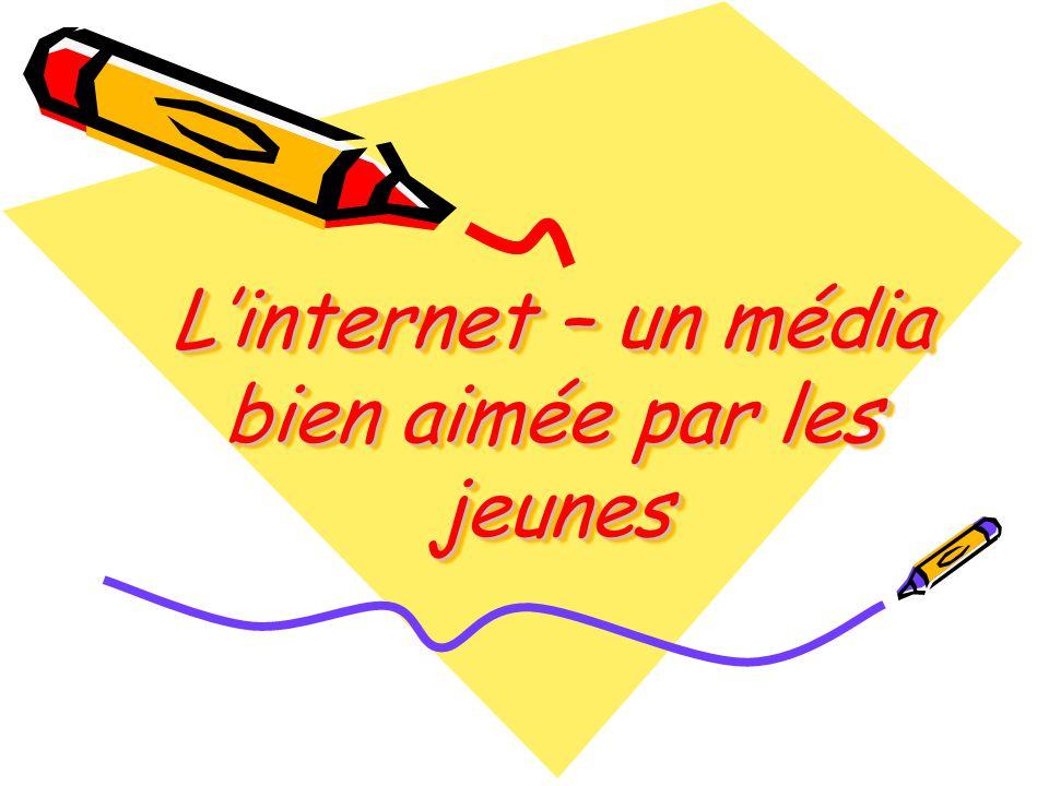 L'internet – un média bien aimée par les jeunes