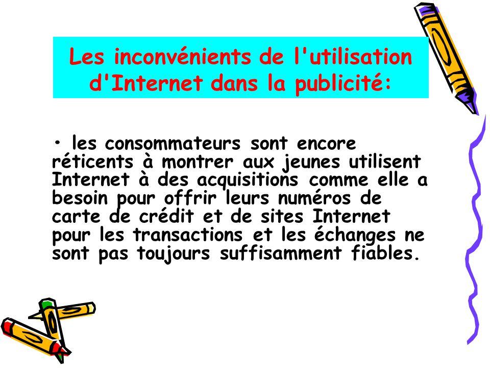 Les inconvénients de l'utilisation d'Internet dans la publicité: les consommateurs sont encore réticents à montrer aux jeunes utilisent Internet à des