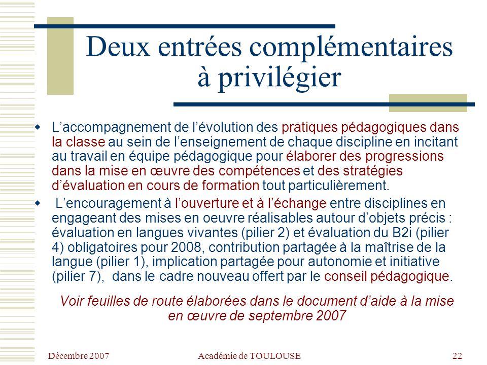 Décembre 2007 Académie de TOULOUSE21 Action prioritaire dans le cadre de la formation initiale des maîtres nouveau cahier des charges pour la formatio