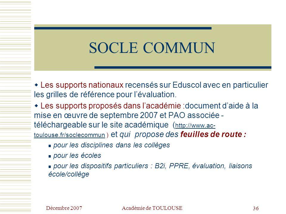 Décembre 2007 Académie de TOULOUSE35 Formalisation / Intuition des démarches Application de normes / Responsabilisation  Un des dangers serait de réd