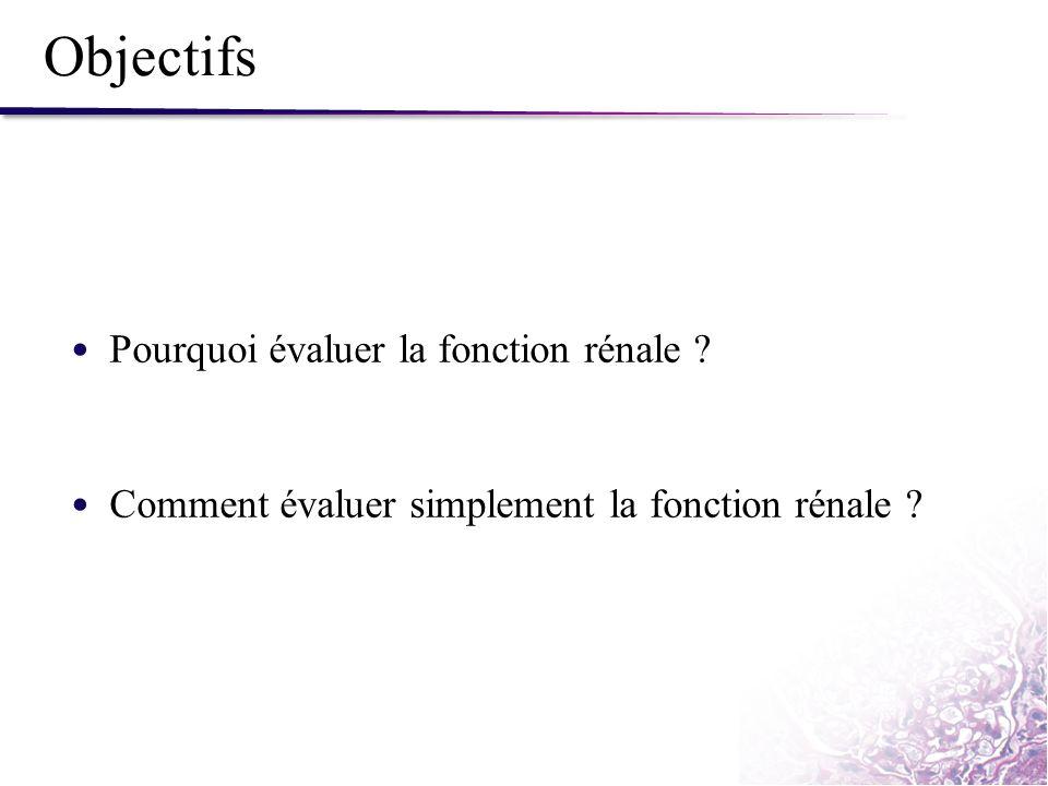 La Formule CKD-EPI (ml/min/1,73m²) Développée pour une meilleure estimation dans la population générale (DFG > 60 ml/min/1,73m²) Levey et al.