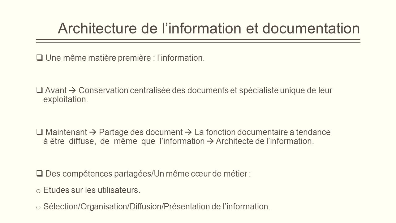 Conclusion o La documentation est en plaine transition.