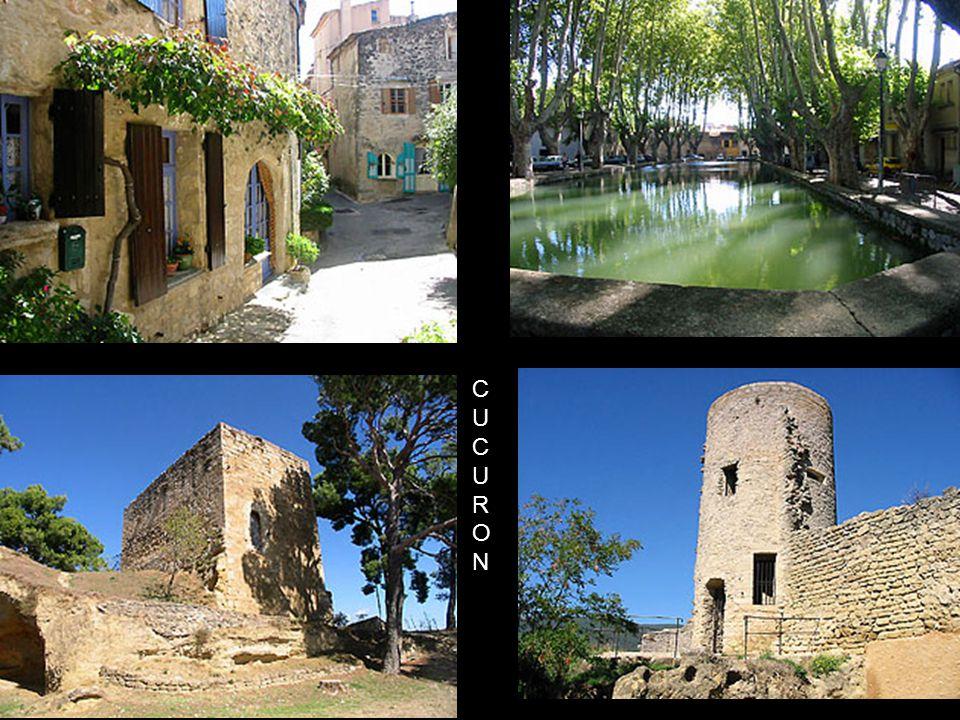 CUCURON .Village situé au coeur du Grand Luberon, appelé aussi la Montagne Bleue.