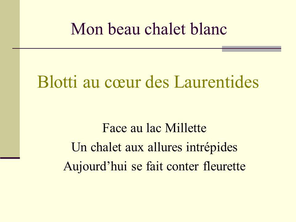 Mon beau chalet blanc Saint-Sauveur-des-Monts - Lac Millette