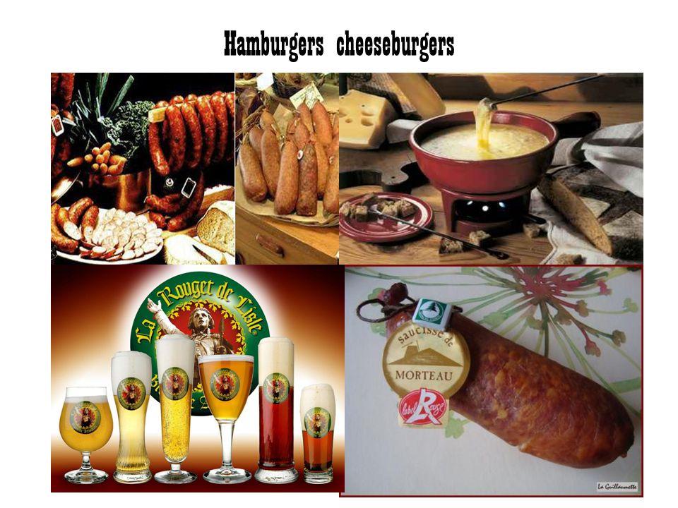 Hamburgers cheeseburgers