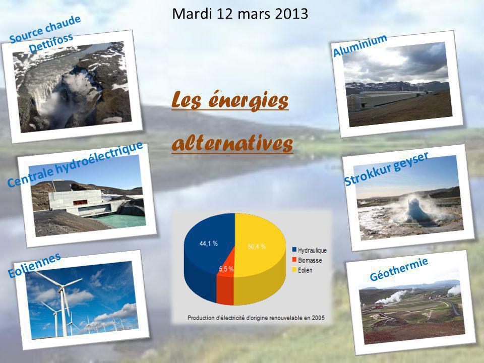 Mardi 12 mars 2013 Strokkur geyser Géothermie Eoliennes Les énergies alternatives