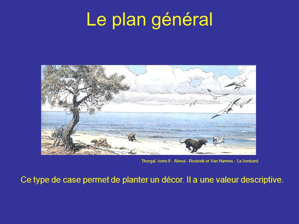 Le plan général Ce type de case permet de planter un décor. Il a une valeur descriptive. Thorgal, tome 8 : Alinoë.- Rosinski et Van Hamme.- Le lombard