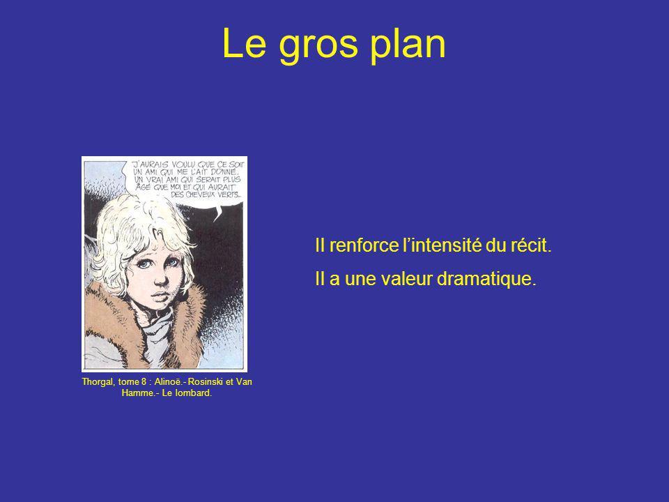 Le gros plan Il renforce l'intensité du récit. Il a une valeur dramatique. Thorgal, tome 8 : Alinoë.- Rosinski et Van Hamme.- Le lombard.
