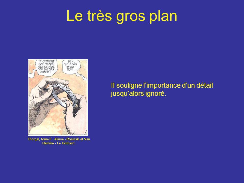 Le très gros plan Il souligne l'importance d'un détail jusqu'alors ignoré. Thorgal, tome 8 : Alinoë.- Rosinski et Van Hamme.- Le lombard.