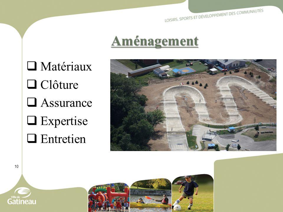 10 Aménagement  Matériaux  Clôture  Assurance  Expertise  Entretien