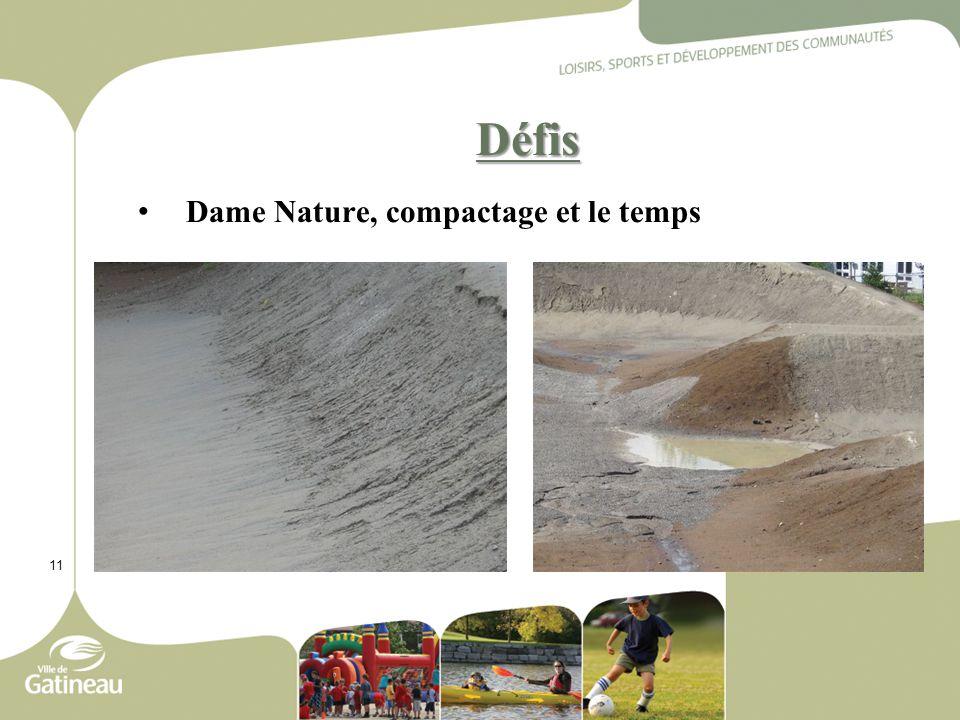 11 Défis Dame Nature, compactage et le temps