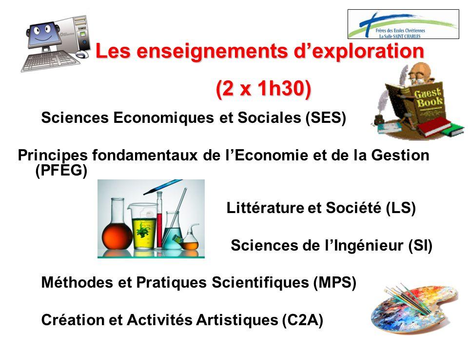 Sciences Economiques et Sociales (SES) Principes fondamentaux de l'Economie et de la Gestion (PFEG) Littérature et Société (LS) Sciences de l'Ingénieu