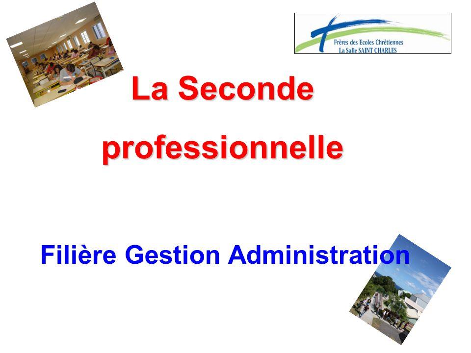La Seconde professionnelle Filière Gestion Administration