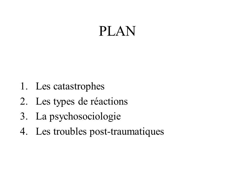 LES CATASTOPHES définitions - données 1.1 définition 1.2 classification 1.3 conséquences psychologiques