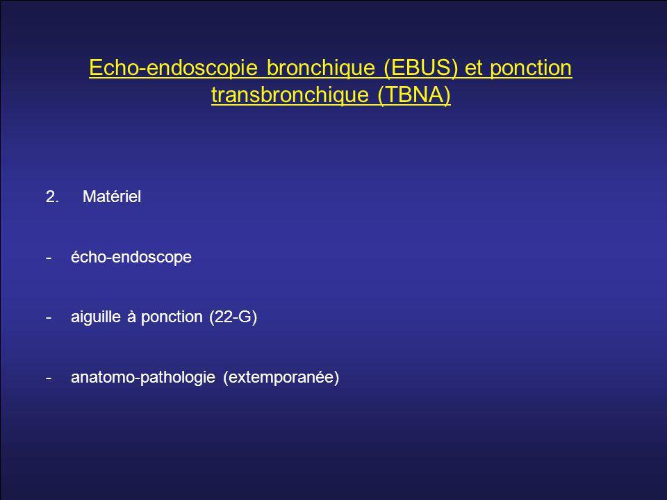 Echo-endoscopie bronchique (EBUS) et ponction transbronchique (TBNA) 2.