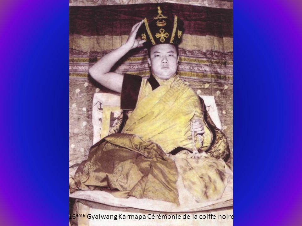 16 ème Gyalwang Karmapa Cérémonie de la coiffe noire