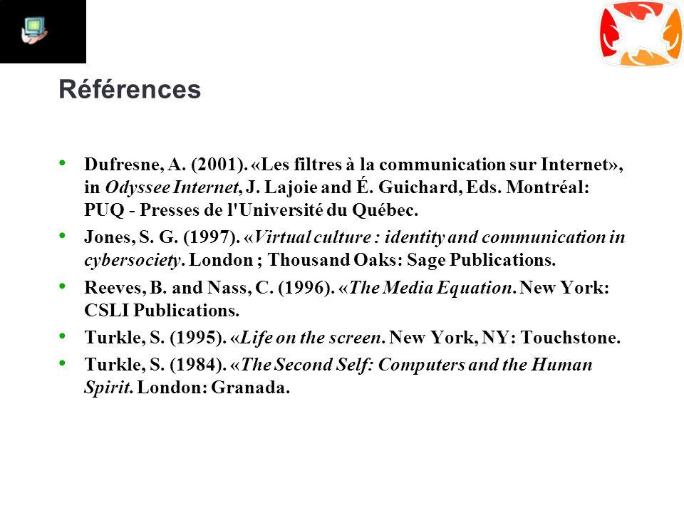 Références Dufresne, A. (2001).
