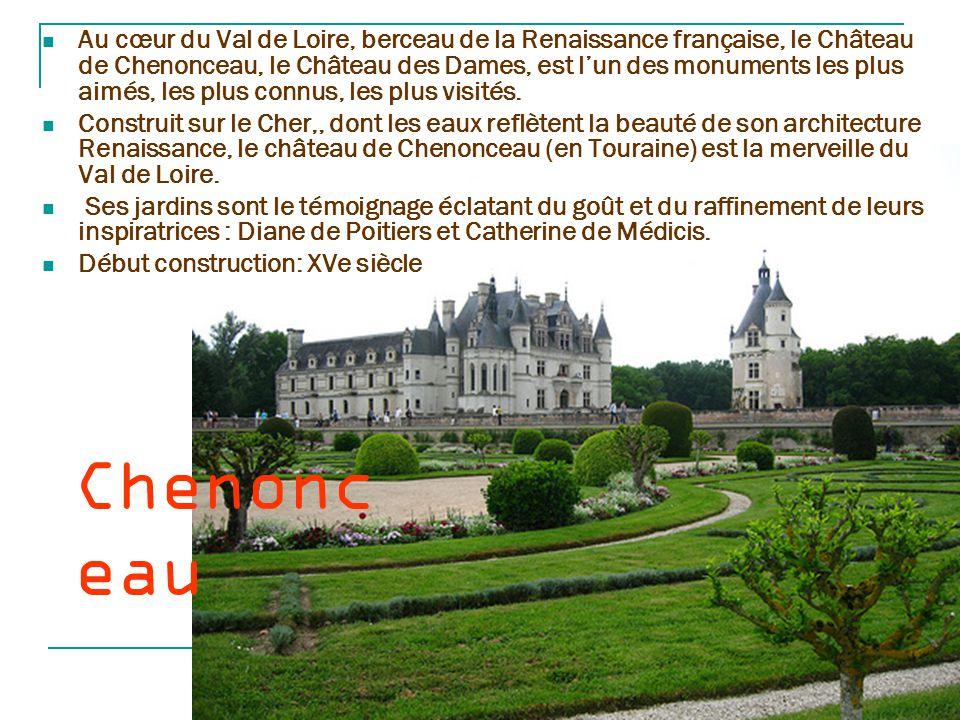 Chaumont-sur- Loire Le château de Chaumont-sur-Loire se trouve sur les bords de la Loire entre Amboise et Blois,.Il est récemment inscrit au patrimoine mondial de l humanité par l Unesco C est Eudes Ier, comte de Blois qui fit construire au Xe siècle, une forteresse pour protéger la ville de Blois des attaques des comtes d Anjou.