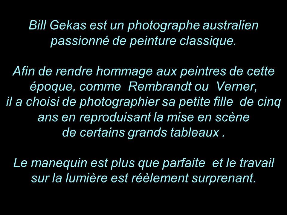Bill Gekas photographe australien et sa petite fille