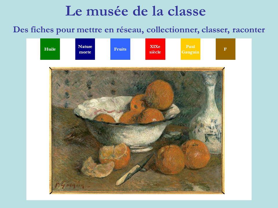 Le musée de la classe Des fiches pour mettre en réseau, collectionner, classer, raconter MGSXYP TH Huile Nature morte XIXe siècle Paul Gauguin FFruits