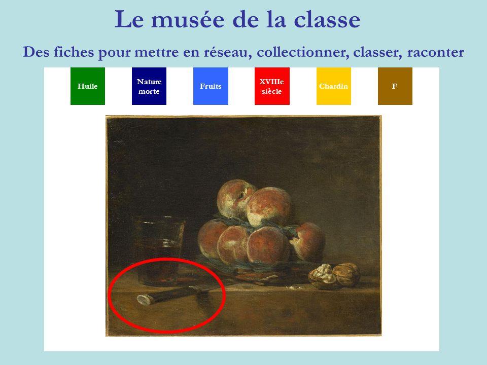 Le musée de la classe Des fiches pour mettre en réseau, collectionner, classer, raconter MGSXYP TH Huile Nature morte XVIIIe siècle ChardinFFruits