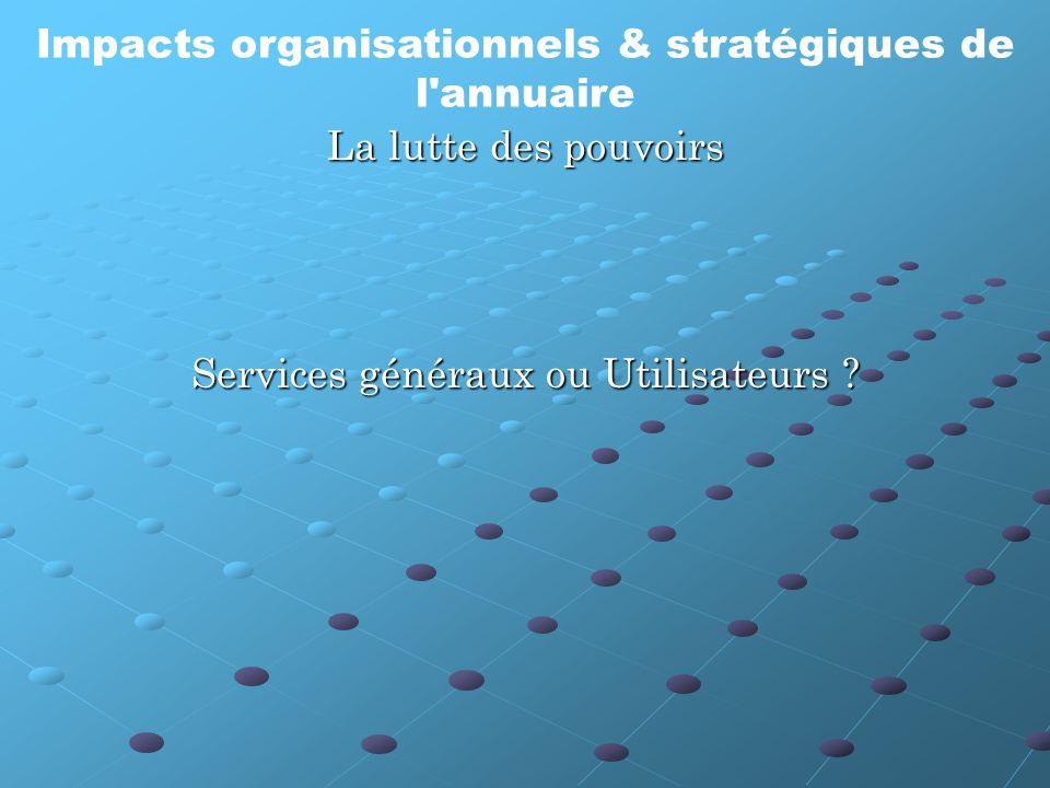 Services généraux ou Utilisateurs .