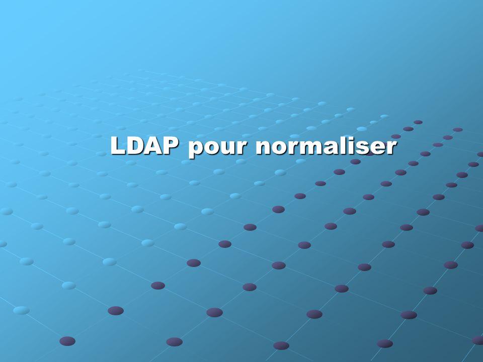 LDAP pour normaliser