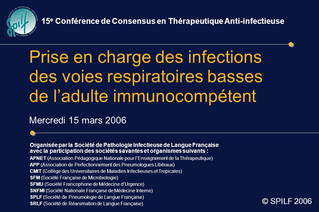 Question 3 Comment choisir le traitement antibiotique d'une pneumonie aiguë communautaire .