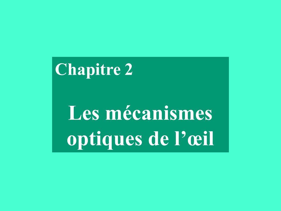 Chapitre 2 Les mécanismes optiques de l'œil