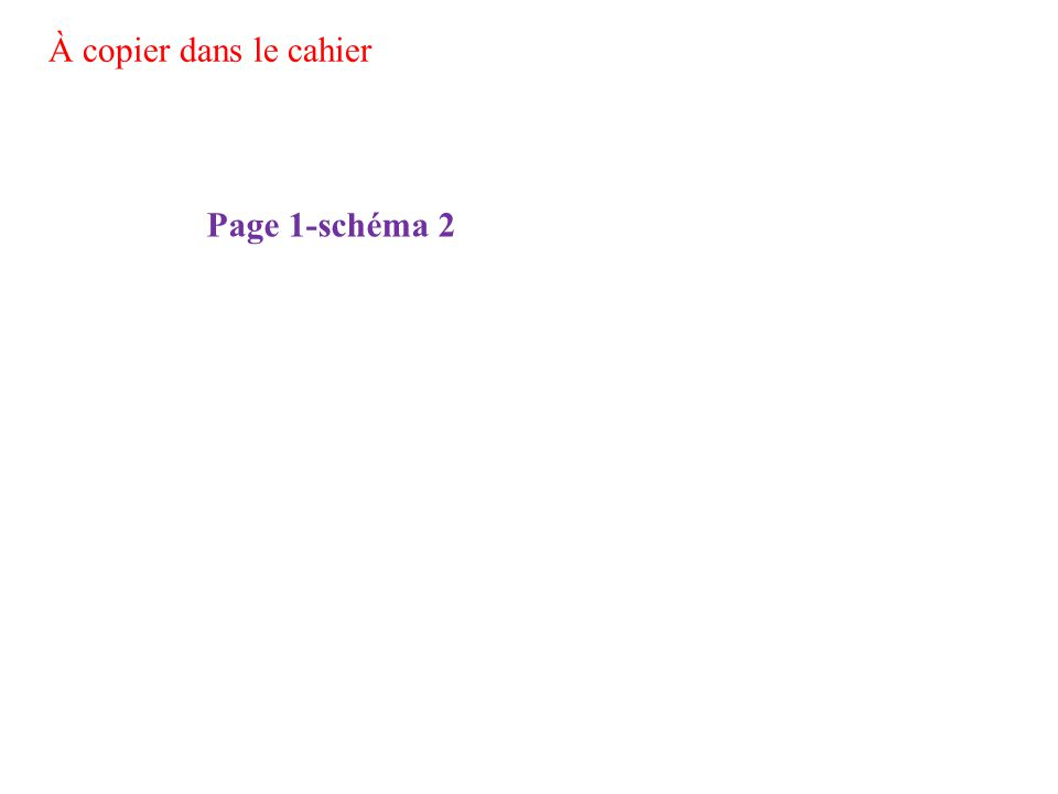Page 1-schéma 2 À copier dans le cahier