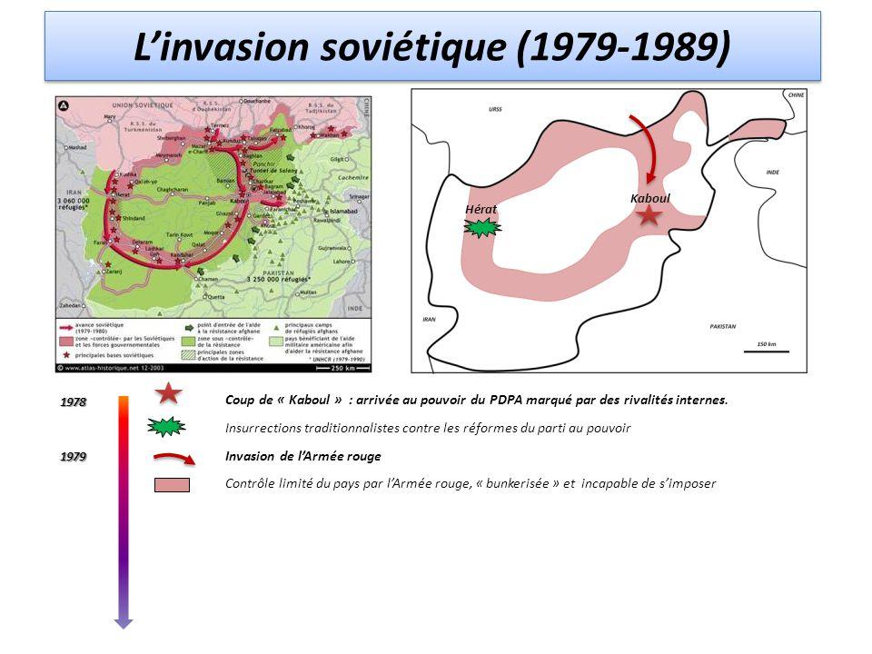 Coup de « Kaboul » : arrivée au pouvoir du PDPA marqué par des rivalités internes. Insurrections traditionnalistes contre les réformes du parti au pou