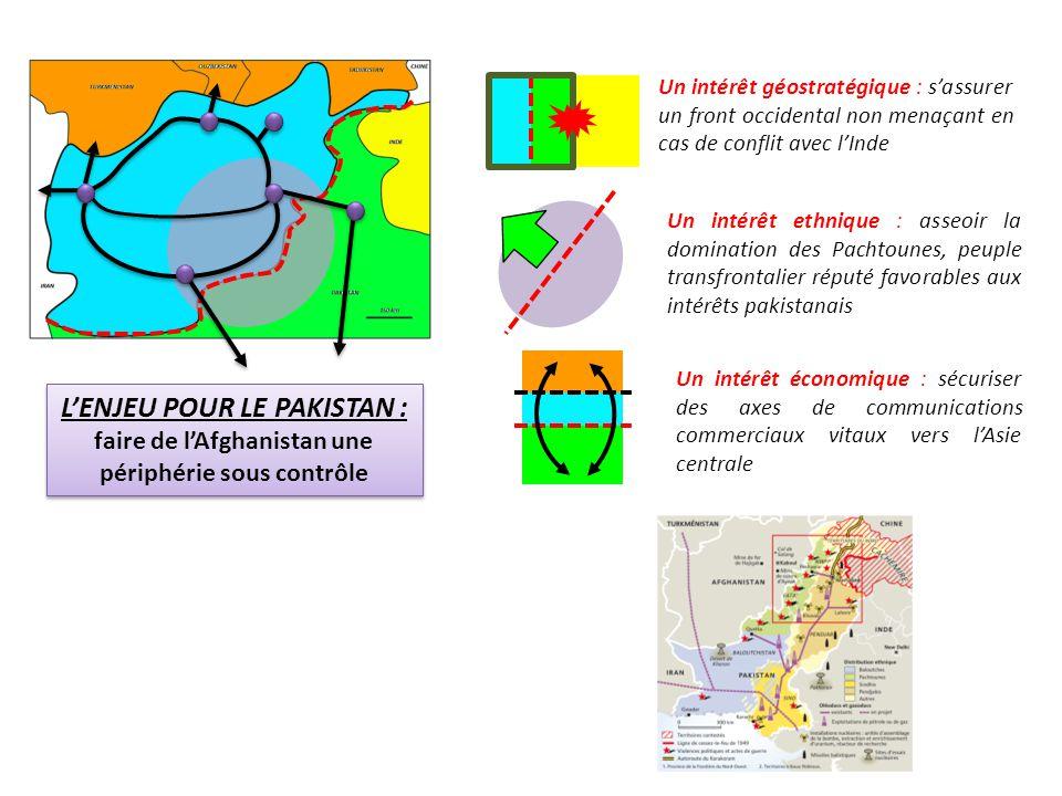 Un intérêt géostratégique : s'assurer un front occidental non menaçant en cas de conflit avec l'Inde Un intérêt ethnique : asseoir la domination des P
