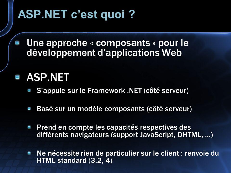 ASP.NET c'est quoi .