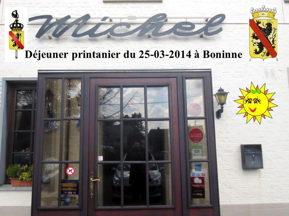 Déjeuner printanier du 25-03-2014 à Boninne