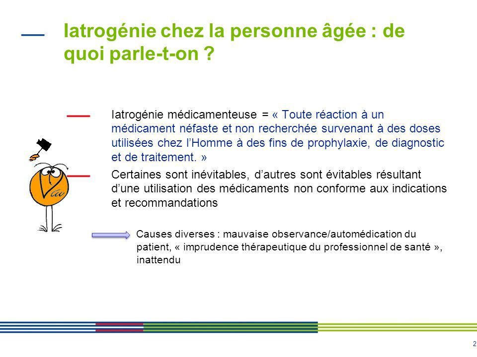 2 Iatrogénie chez la personne âgée : de quoi parle-t-on .