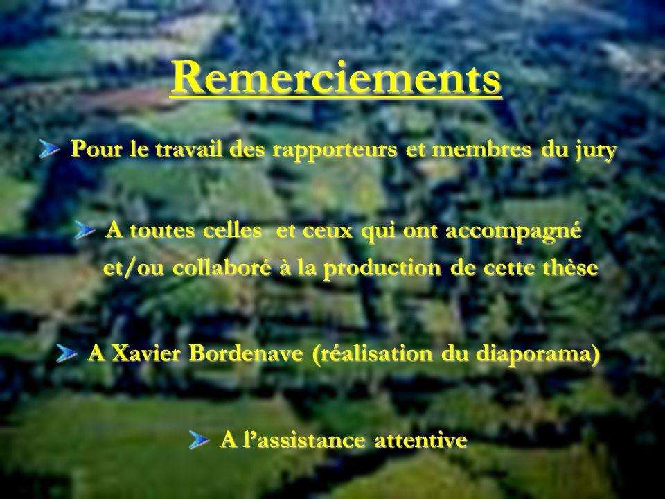 19 Remerciements Pour le travail des rapporteurs et membres du jury Pour le travail des rapporteurs et membres du jury A toutes celles et ceux qui ont