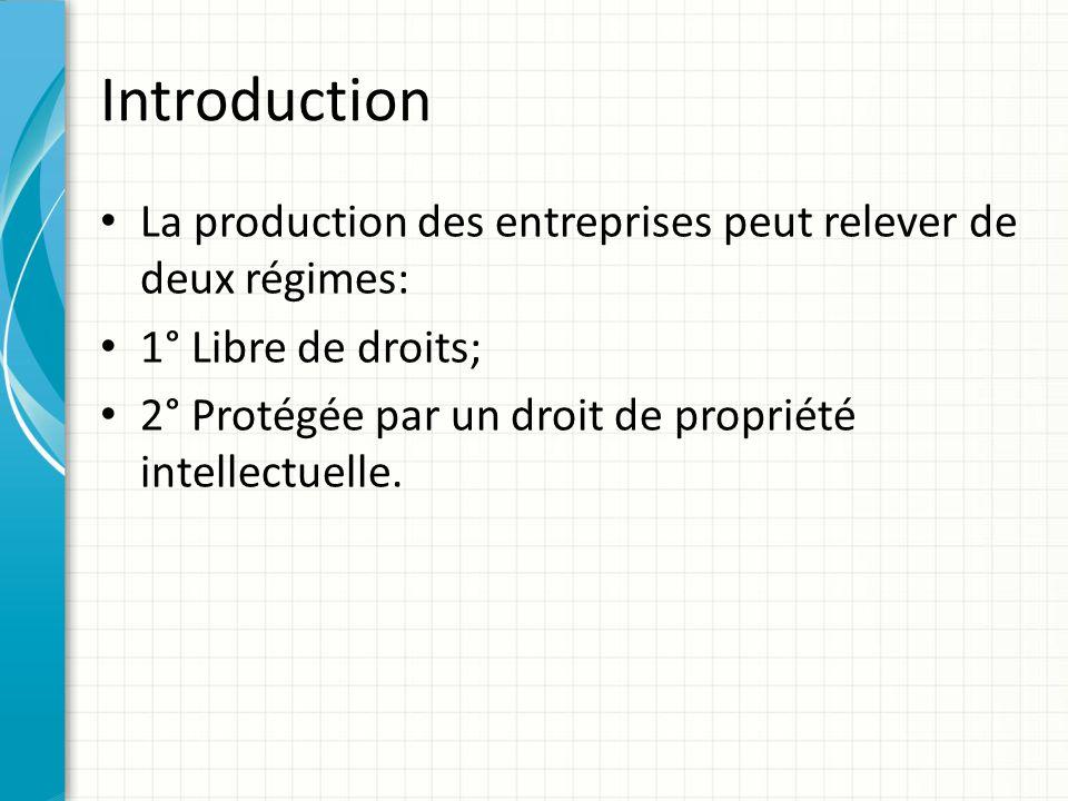 Introduction Les droits de propriété intellectuelle font partie du fonds de commerce.