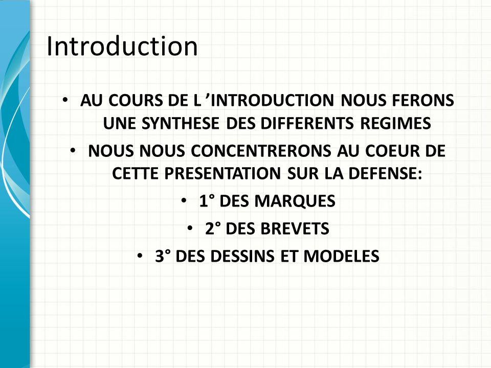 Première partie: La défense judiciaire des droits de PI 1° Les définitions posées par le code pour les principaux droits  Les marques Sont régies par le livre 7 du code de la propriété intellectuelle.