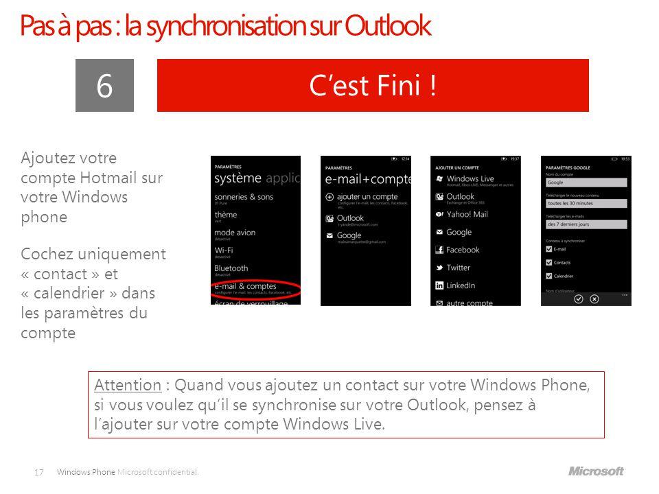 Windows Phone Microsoft confidential.17 6 C'est Fini .