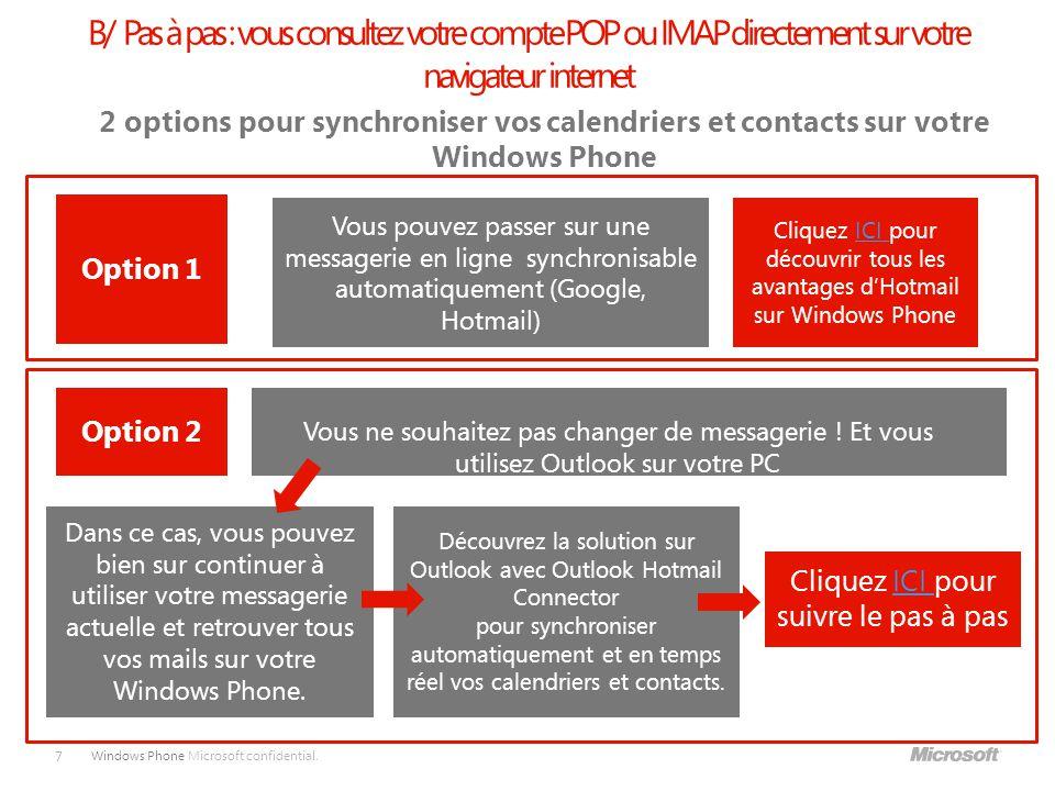 Windows Phone Microsoft confidential.