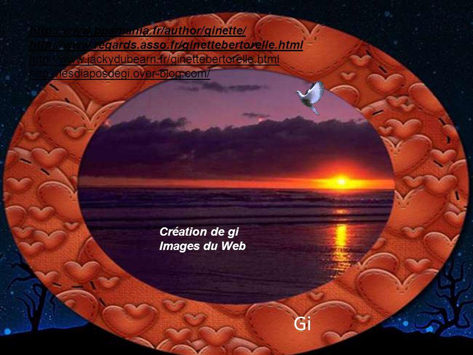 C'est chouette, n'est-ce pas, les couchers de soleil…; J'adore et toi ?