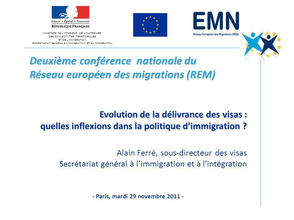 Deuxième conférence nationale du Réseau européen des migrations (REM) Evolution de la délivrance des visas : quelles inflexions dans la politique d'immigration .