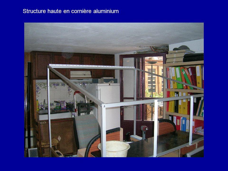 Structure haute en cornière aluminium