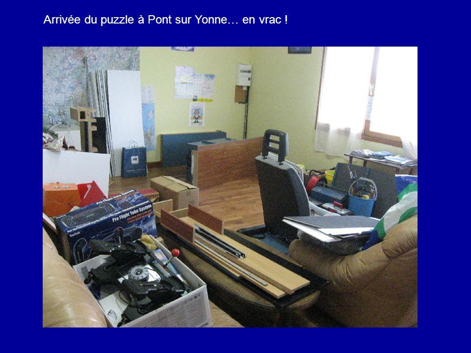 Arrivée du puzzle à Pont sur Yonne… en vrac !