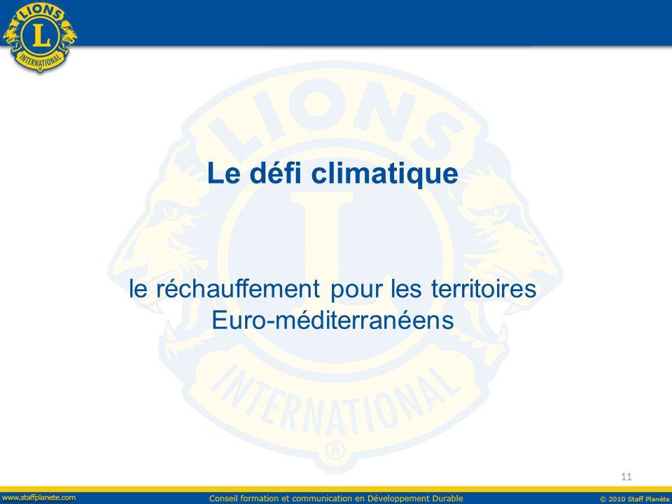 Le défi climatique le réchauffement pour les territoires Euro-méditerranéens 11