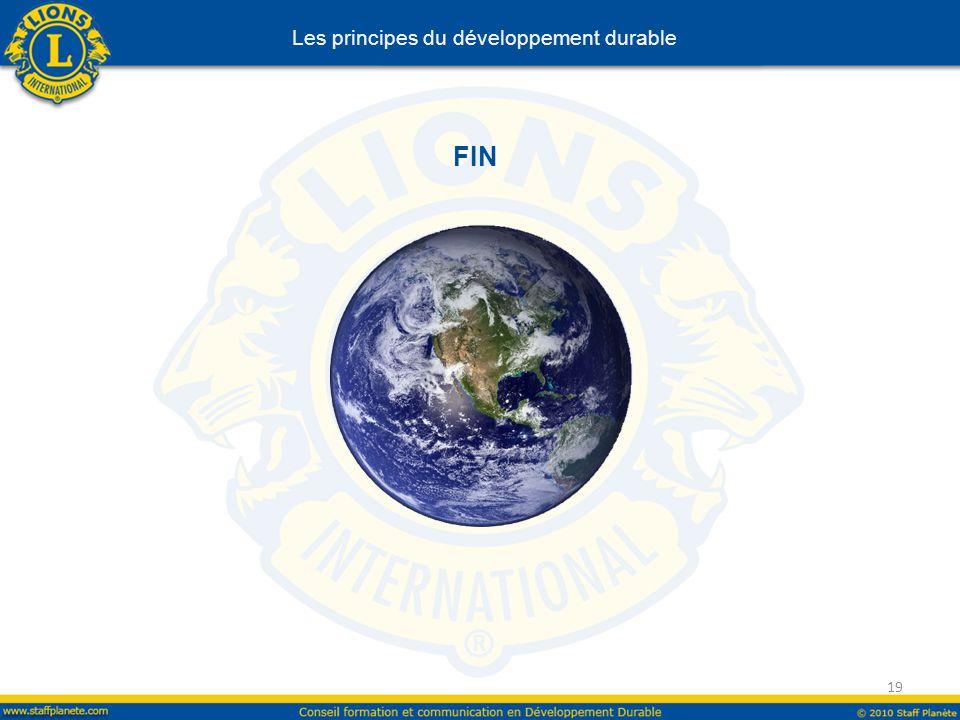 FIN 19 Les principes du développement durable